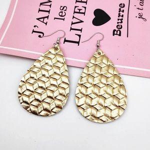 💕😊 Gold Basketweave Earrings 💕😊